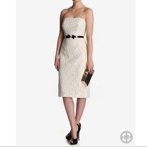 Ted Baker Avi lace strapless midi cocktail dress